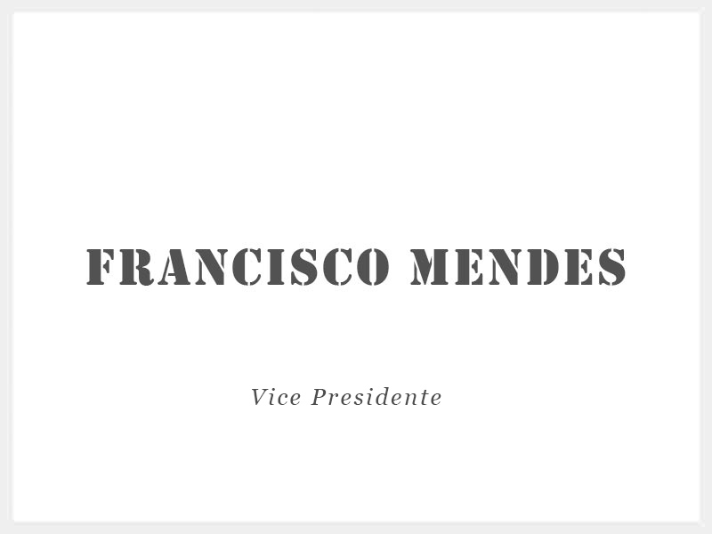 Francisco Mendes - Vice-Presidente